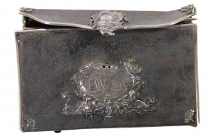 66/3049   [Bindings]. 18th cent. sharkskin wallet binding with richly moul