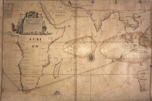 66/6153   [Indian Ocean]. Nieuwe wassende graadege paskaart van de Cust va
