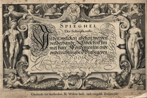 67/2838   [Calligraphy]. Velde, J. van den.