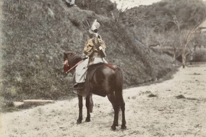 67/4646   [Japan]. Lot of 65 handcoloured albumen prints,