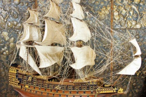 67/3187   [Maritime history]. (Ship model of a four master).
