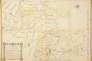 69/6346   [Brabant]. Caarte van het Marquisaat, van Bergen op ten zoom.