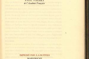 70/1588   [Stols, A.A.M.]. Valéry, P.