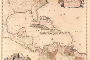 70/5838   [America]. Insulae Americanae in Oceano Septentrionali ac region