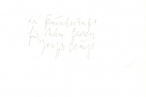 70/201   [Beuys, J.]. Bastian, H. And Simmen, J. (ed.).