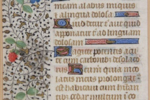 70/2702   [Medieval manuscripts]. Leaf from a Book of Hours,