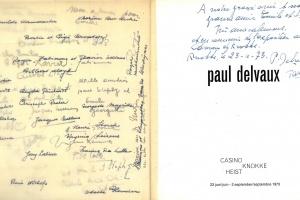 70/301   [Delvaux, P.]. Paul Delvaux. Ed. R. Hammacher and L. Brandt Cors