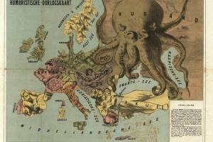 70/5863   [Caricatural maps]. Futuristisches Weltkriegs-Gedenkblatt 1914/1