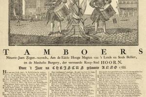 70/5354   [New Year wishes]. Tamboers Nieuwe-Jaars Zegen-wensch, Aan de Ed