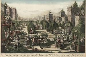 70/5762   [Jerusalem]. Die Stadt Ierusalem, wie darinnen von den Iuden das