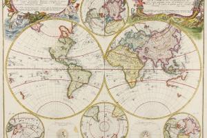 70/5970   [Worldmaps]. Planiglobii Terrestris Mappa Universalis Utrumque H