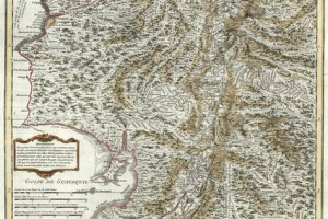 70/5941   [Peru]. Carte de la Province de Quito au Perou.
