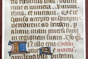 70/2700   [Medieval manuscripts]. Leaf from a Book of Hours,