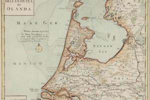 70/6084   [Netherlands]. Nuova carta della Contea di Olanda.
