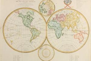 70/5963   [Worldmaps]. Algemeene wereld kaart.