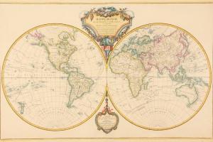 70/5965   [Worldmaps]. Mappe-monde dressée suivant les nouvelles relations