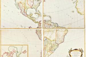 70/5835   [America]. L'Amérique Septentrionale et Méridionale divisée suiv