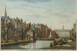 70/5986   [Amsterdam and surroundings]. Gezigt langs het Rokin, op de Nieu