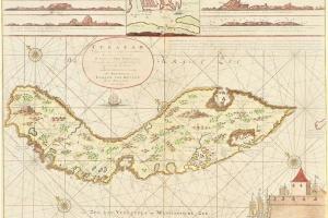 70/5878   [Curaçao]. Nieuwe Afteekening van het Eyland Curacao (...) Mitsg