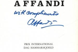 70/2257   [Indonesian art]. Affandi Prix International Dag Hammarskjoeld.