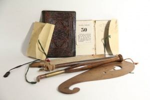 70/10   [Bookbinder's tools]. Large collection of various bookbinder's r