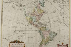 70/5837   [America]. Carte d'Amerique divisée en ses principales parties.