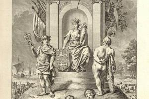 70/3002   [Friesland]. Hedendaagsche historie of tegenwoordige staat van a