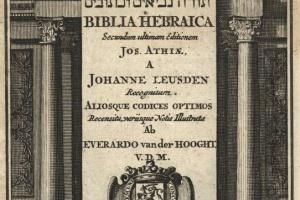70/2823   [Biblia hebraica]. Biblia Hebraica, Secundum ultimam editionem J