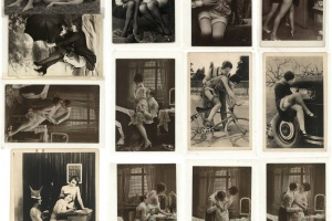 70/4453   [Erotica]. Lot of 40 erotic photographs of (nude) couples,