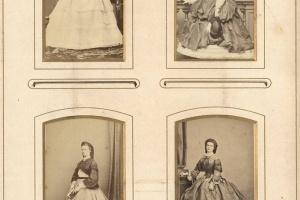 70/4409   [Cartes-de-visite and cabinet photographs]. Album containing 51