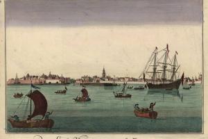70/5826   [Vlissingen]. De Stad Vlissingen uit de Zee gezien.