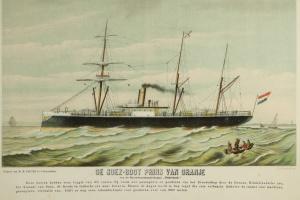 70/5682   [Ships]. De Suez-boot Prins van Oranje van de Stoomvaartmaatscha