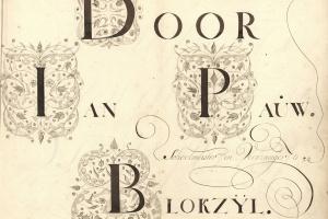 70/2663   [Calligraphy]. Pauw, J. (1730-1797).