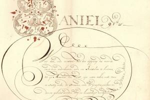 70/2661   [Calligraphy]. Pauw, J. (1730-1797).