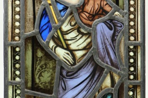 70/5035   [Stained glass]. (Madonna and child).
