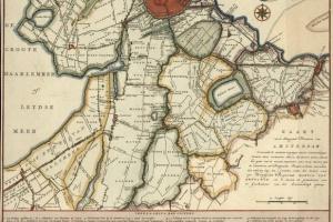 70/5987   [Amsterdam and surroundings]. Kaart van de Omleggende Plaatsen v