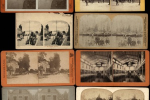 70/4589   [Stereophotographs. Netherlands]. Lot of 28 stereophotographs an