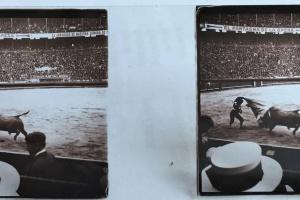 70/4593   [Stereophotographs. Spain]. Lot of ±40 stereoscopic glass slides