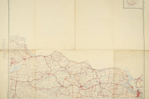 70/2280   [Maps, plans and views]. Overzichtskaart van Java en Madoera (On