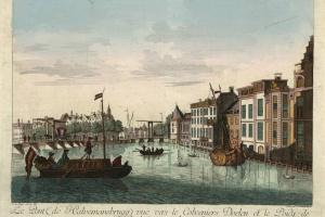 70/5745   [Amsterdam]. Le Pont (de Halvenmansbrugg) vue vers le Cloveniers