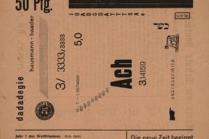 71/147   [Dada]. Der Dada. No.1. Ed. R. Hausmann.