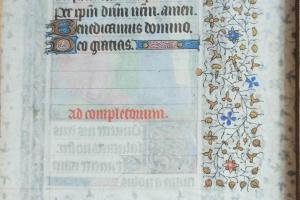 74/2301   [Medieval manuscripts. Miniatures]. (Coronation of the Virgin Ma