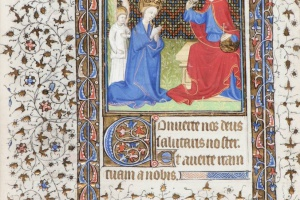 74/2301   [Medieval manuscripts. Miniatures]. (Coronation of the Virgin Ma