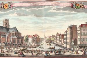 74/5749   [Rotterdam and surroundings]. Gesigt aan het Water genaamt de Ro