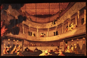 75/5864   [Amsterdam]. (The burning theatre in Amsterdam in 1772).
